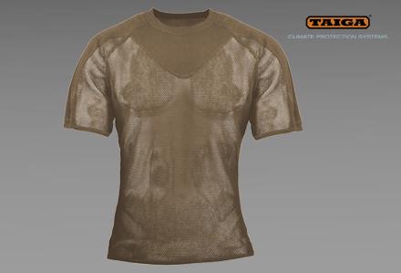 Bielizna termoaktywna - T-shirt siateczkowy oliwkowy / khaki