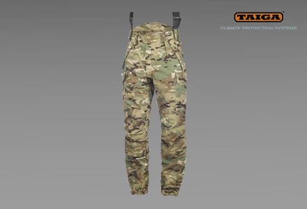 Zimowe spodnie taktyczne CPA w kamuflażu TMTP firmy TAIGA