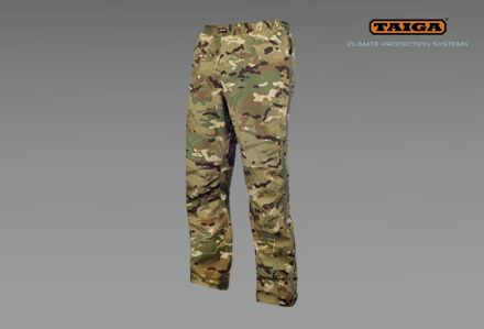 Spodnie przeciwdeszczowe CRW firmy TAIGA - kamuflaż TMTP