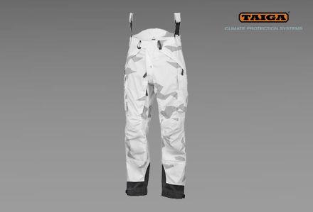Spodnie MA w kamuflażu zimowym TSUP firmy TAIGA