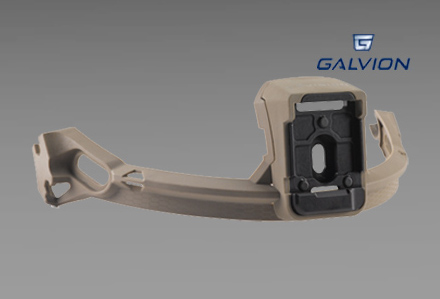 Szyna przednia z uchwytem do NVG do hełmu Viper firmy Galvion (dawne Revision)