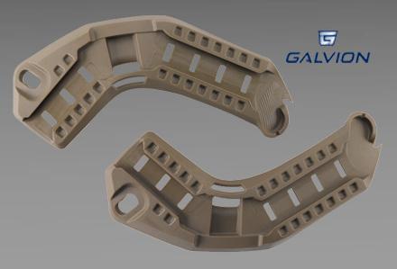 Szyny boczne do hełmu Viper firmy Galvion (dawne Revision)
