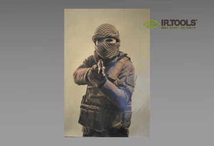 Termowizyjne, drukowane cele strzeleckie Infrared Tools IR.Tools