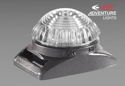 Światła sygnalizacyjne GUARDIAN DUAL firmy Adventure Lights - białe