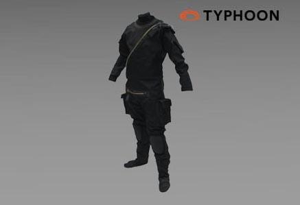 Suchy kombinezon SWAT firmy TYPHOON